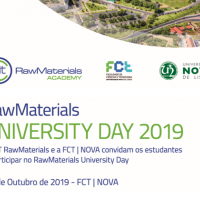 Raw Materials University Day 2019 | FCT/NOVA